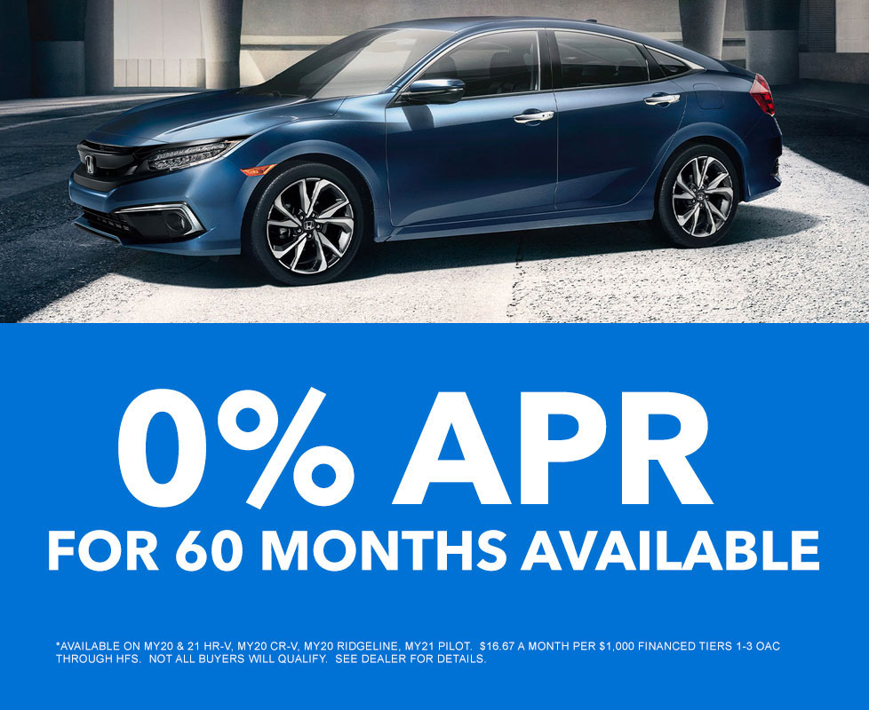 zero percent apr for sixty months available