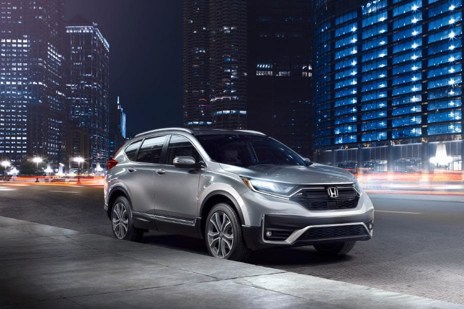 2021 Honda CR-V Parked on Street at Night