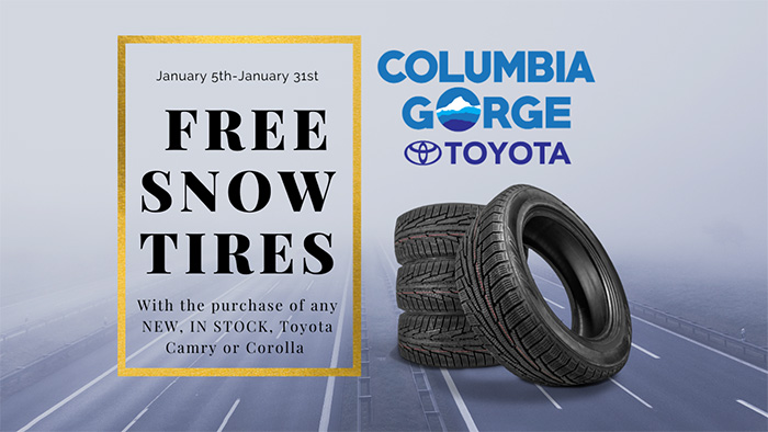 Free Snow Tire at Columbia Gorge Toyota
