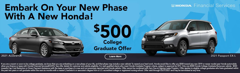 Honda Graduate Offer
