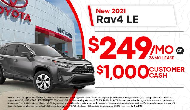 New 2021 RAV4 LE