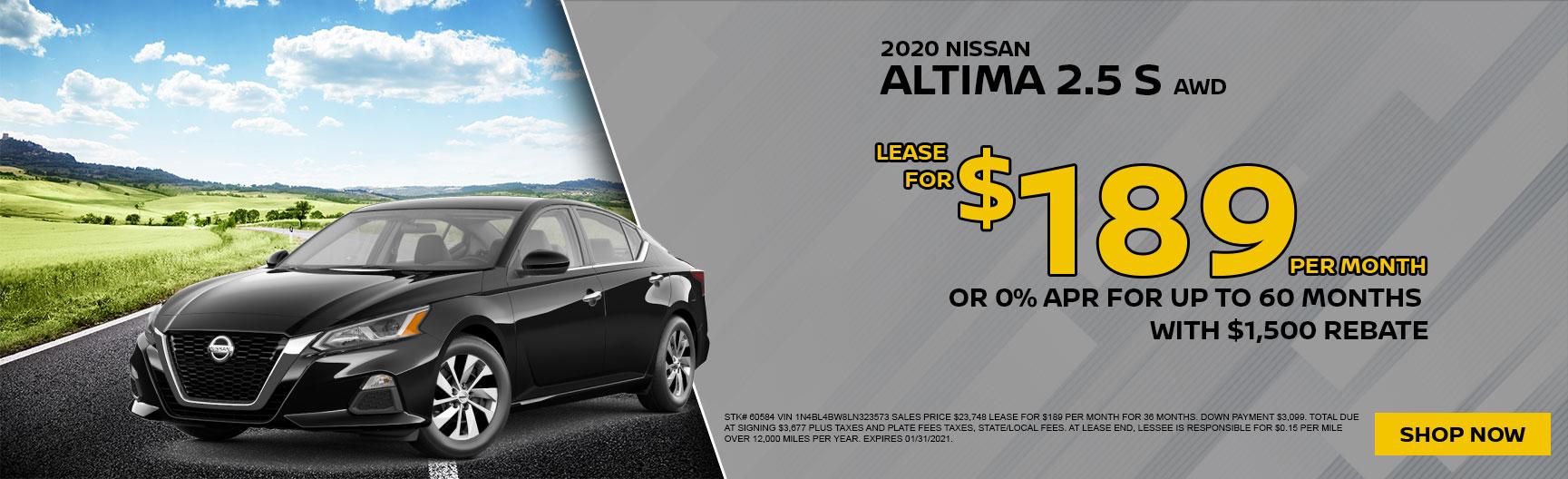 2020 Nissan Altima S AWD