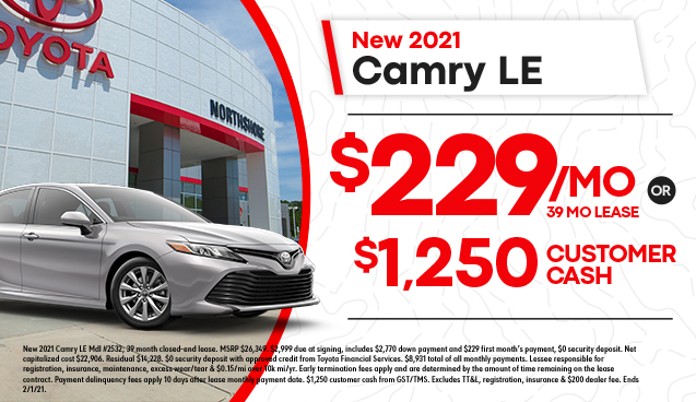 New 2021 Camry LE