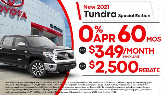 New 2021 Tundra Special Edition