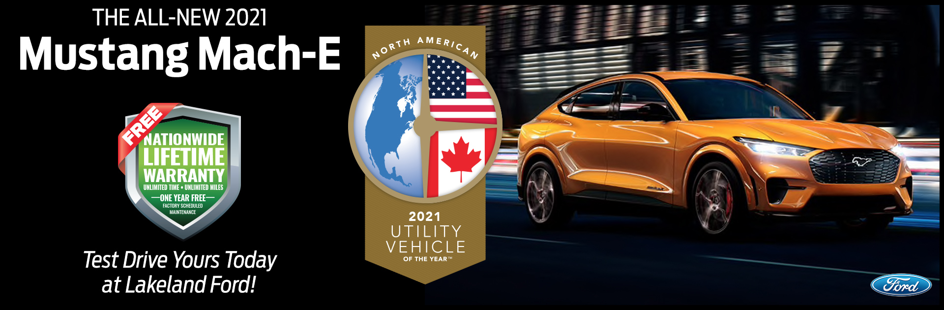 2021 Utility Vehcile of the Year - FORD Mach-e