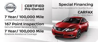 certified pre-owned special financing