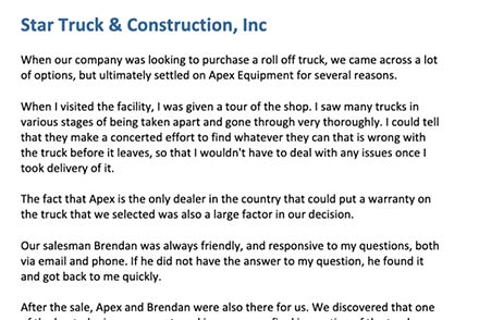 Star Trucking & Construction Services, Inc.
