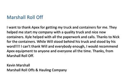 Marshall Roll Offs & Hauling Company