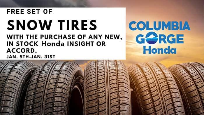 Free Snow Tire at Columbia Gorge Honda