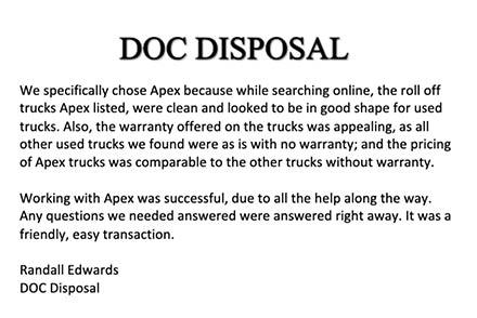 DOC Disposal