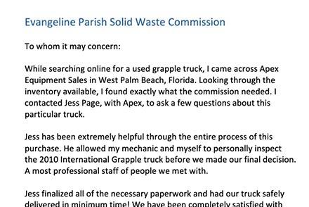 Evangeline Parish Solid Waste Commission