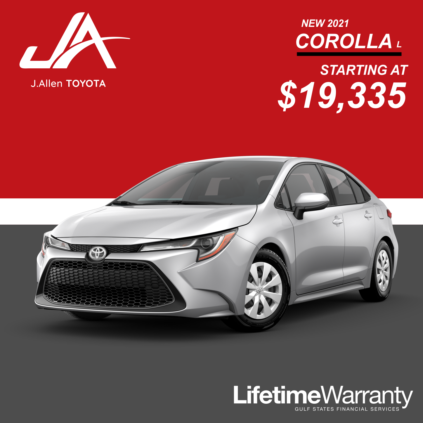 New Corolla Special