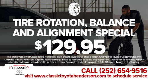 Tire Rotation, Balance, and Alignment Special