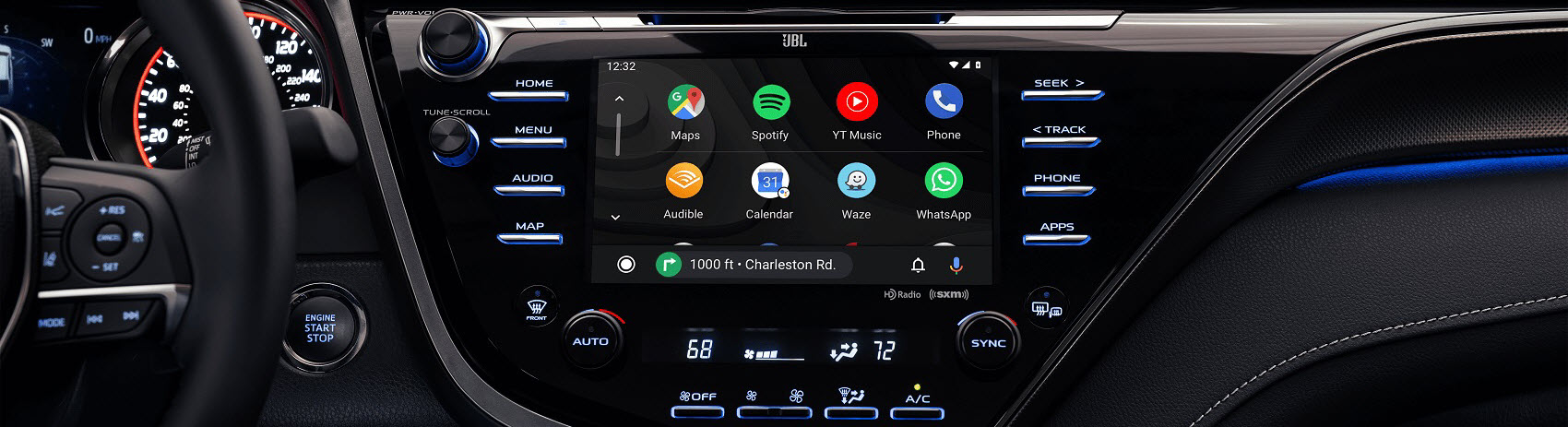 2021 Toyota Camry Interior with Android Auto™ compatibility