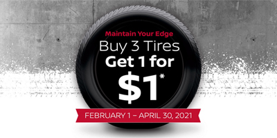 Buy 3 Tires - Get 1 for $1