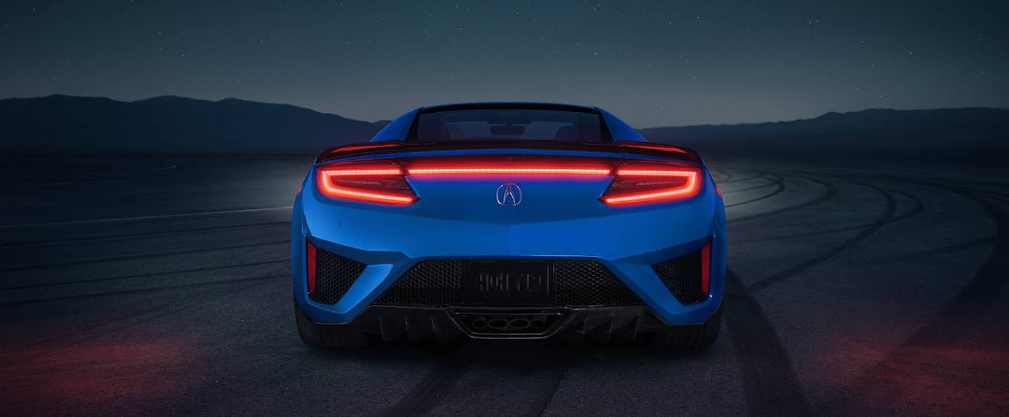 Rear view of 2021 Acura NSX