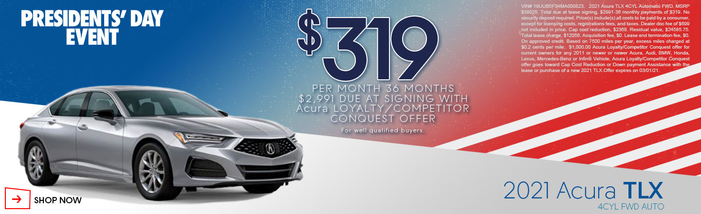 Presidents Day 2021 TLX