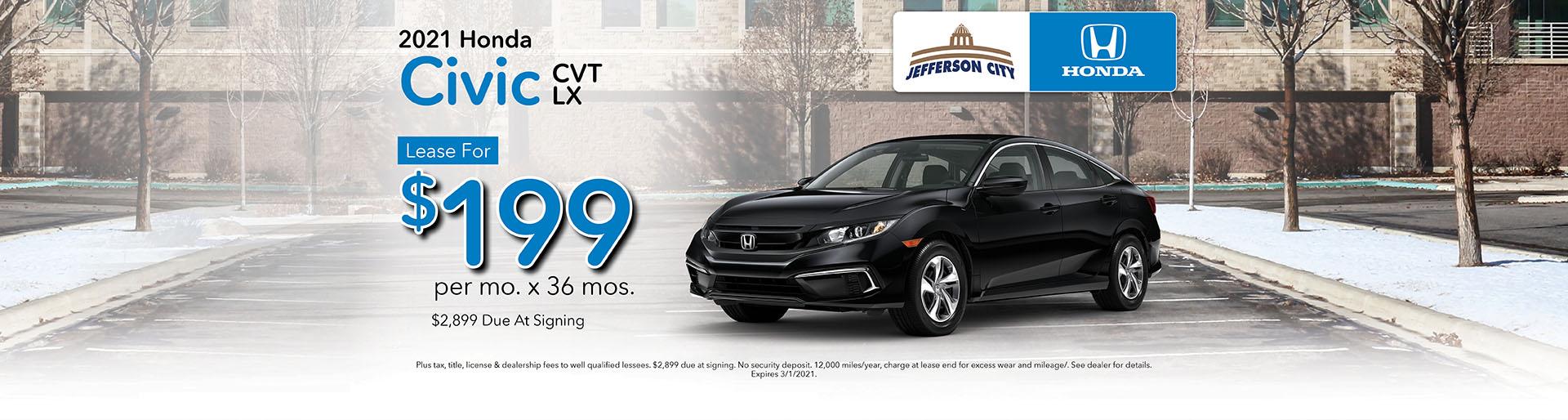 2020 CR-V LX | Lease for $330/mo x 36 Mos. | Jefferson City, MO
