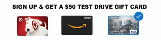Get a $50 for a Test Drive