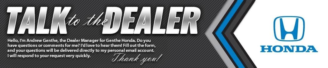 Talk to the Dealer of Genthe Honda