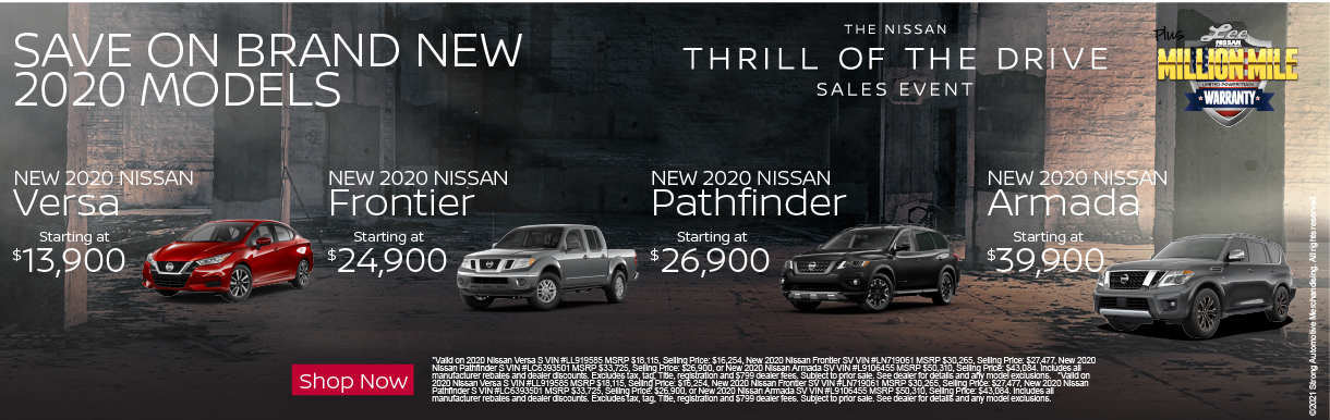 SAVE ON BRAND NEW 2020 MODELS