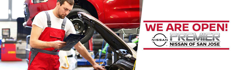 We are Open! Premier Nissan of San Jose service