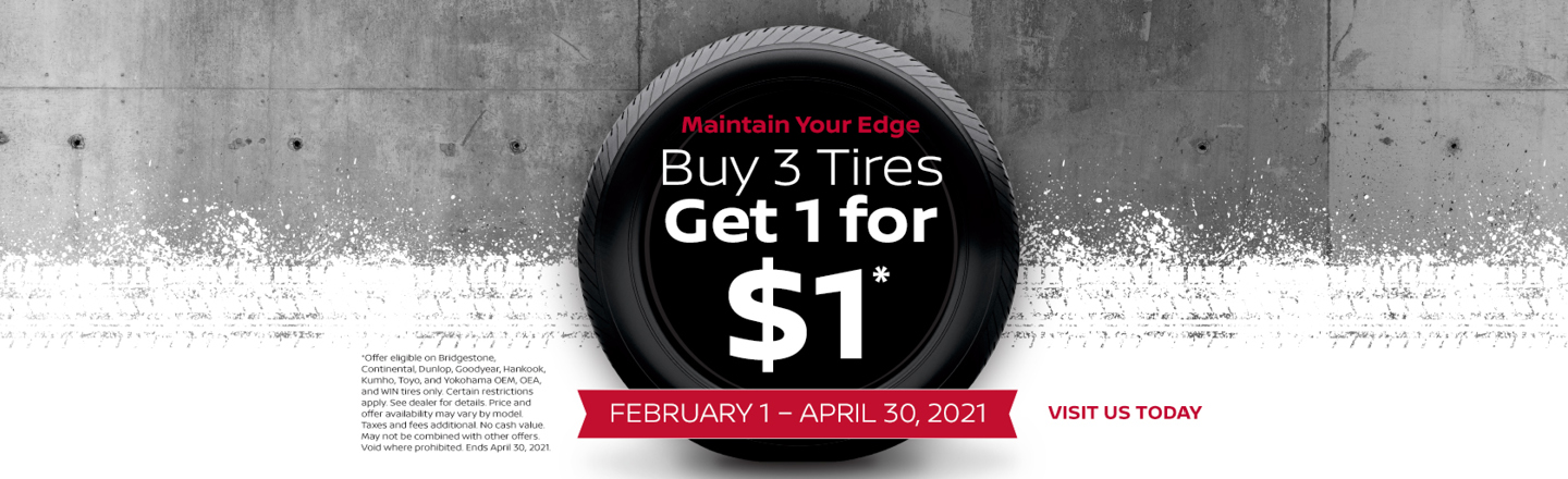 Buy 3 Tires Get the 4th for Free