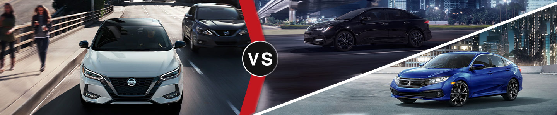 Compact Car Comparison: 2021 Nissan Sentra Vs. Honda Civic & Toyota Corolla