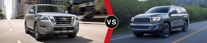 Compare the 2021 Nissan Armada and 2021 Toyota Sequoia in Covington, LA