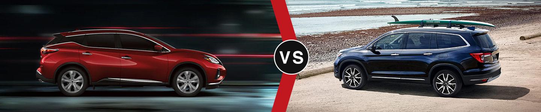 Compare the 2021 Nissan Murano and 2021 Honda Pilot in Covington, LA