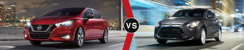 Compare the 2021 Nissan Versa and 2020 Toyota Yaris in Covington, LA
