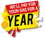 we will pay for your gas for a year