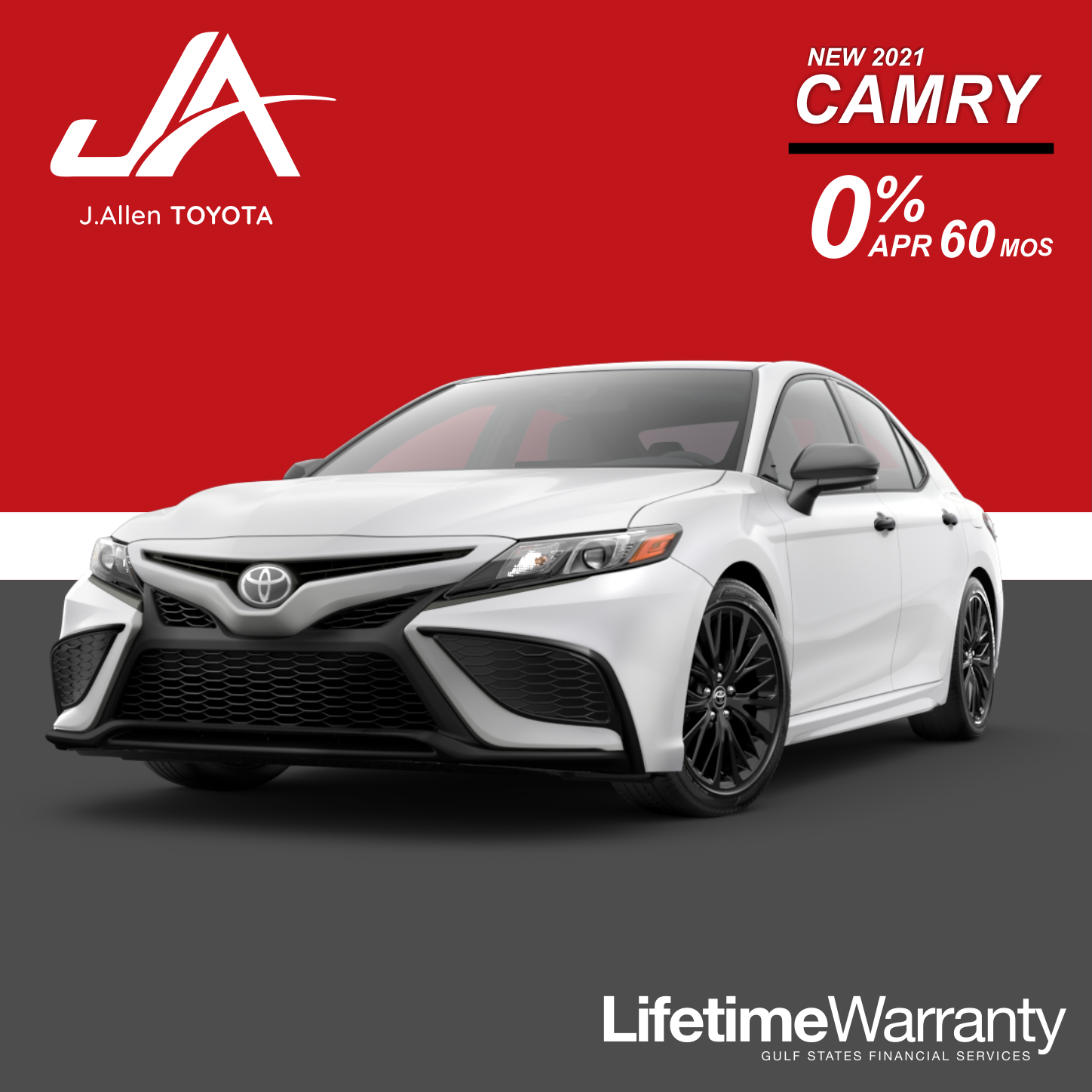 New Camry 0% Financing