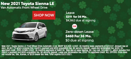New 2021 Toyota Sienna LE
