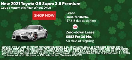 New 2021 Toyota GR Supra 3.0