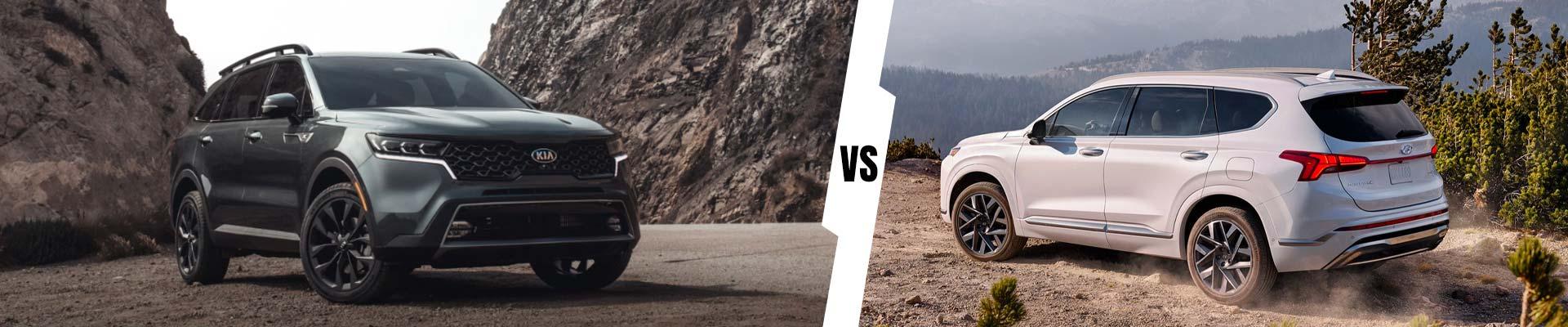 Mid-Size SUV Comparison: 2021 Kia Sorento Vs. 2021 Hyundai Santa Fe