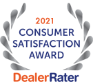2021 Consumer Satisfaction Award Dealer Rater Logo