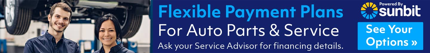 Flexible monthly payments on service