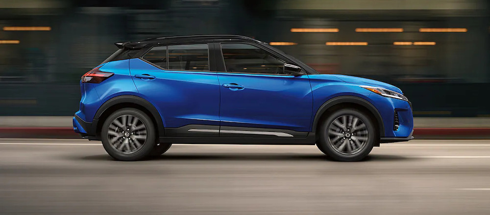 2021 Nissan Kicks Sutherlin Nissan of Fort Myers Blue Side Profile