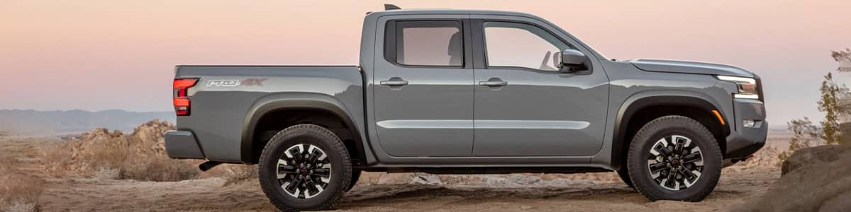 Side Profile of a 2022 Nissan Frontier