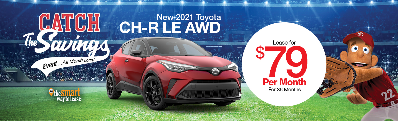 New 2021 Toyota CH-R LE AWD