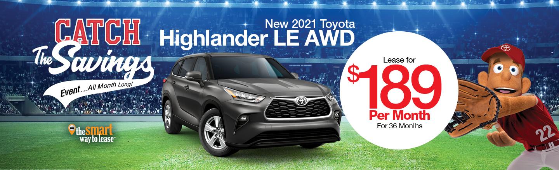 New 2021 Toyota Highlander LE AWD