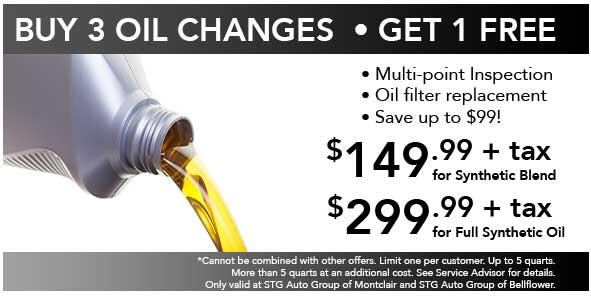 Buy 3 Oil Changes Get 1 Free