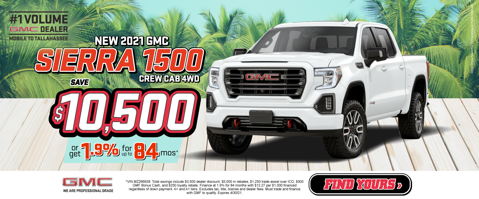 New 2021 GMC Sierra Save over $10,500