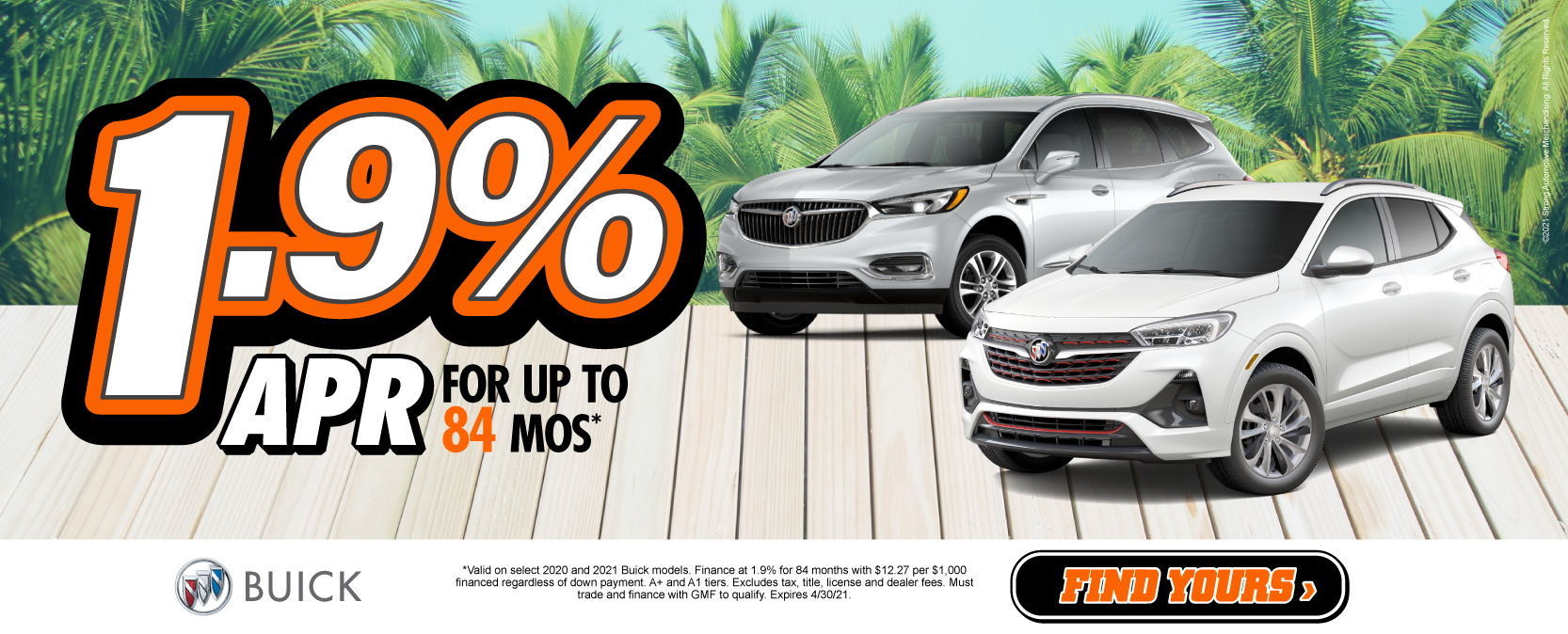 Buick 1.9% APR for up to 84 months