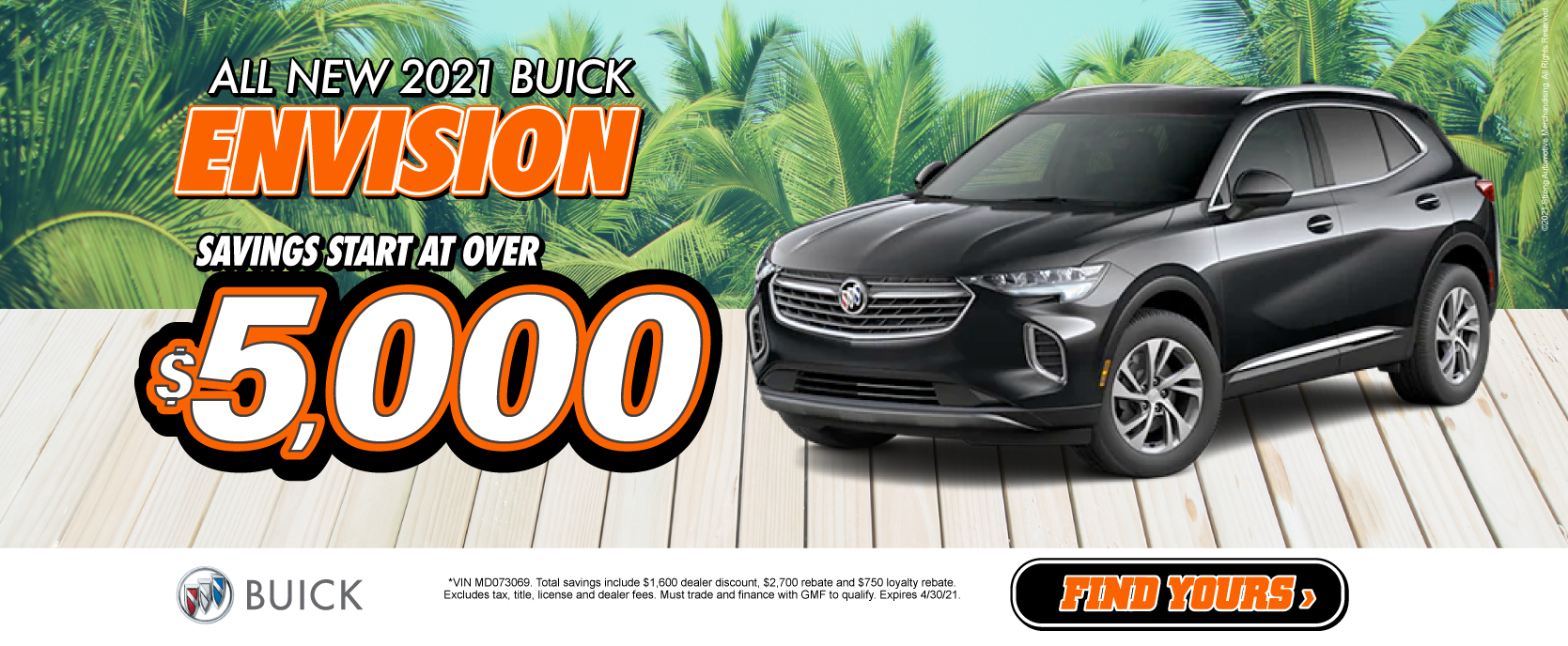 2021 Buick Envision Savings start at $5,000