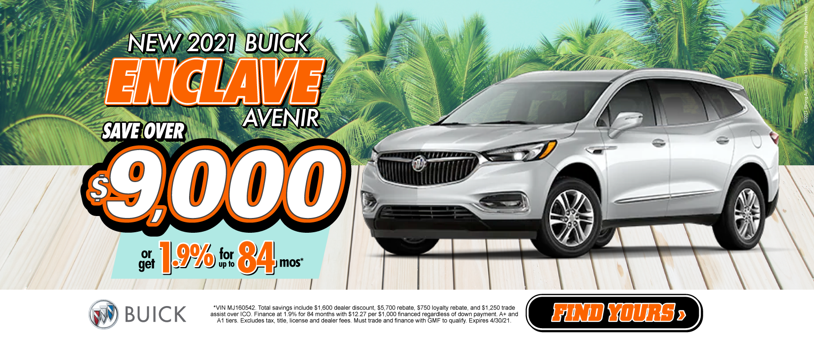New 2021 Buick Enclave Save over $9,000