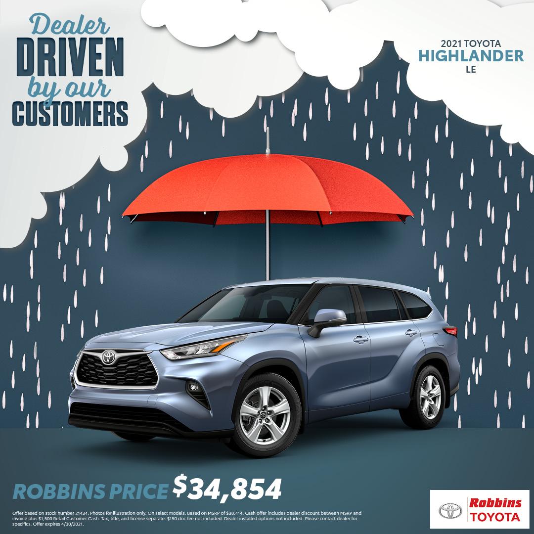 2021 Toyota Highlander - Robbins Toyota - Mt