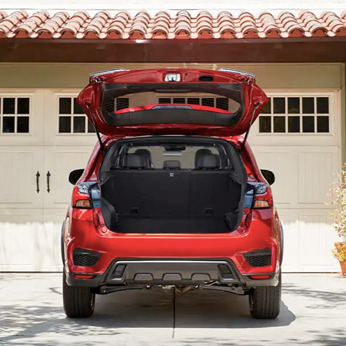 21 Outlander sport open trunk displaying space