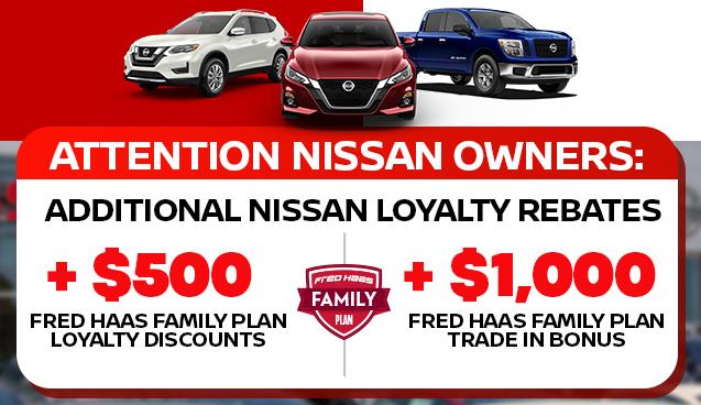 Additional Nissan Loyalty Rebates